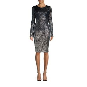 Betsy & Adam Sequin Embellished Dress